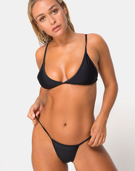 Oko Bikini Top in Black by Motel
