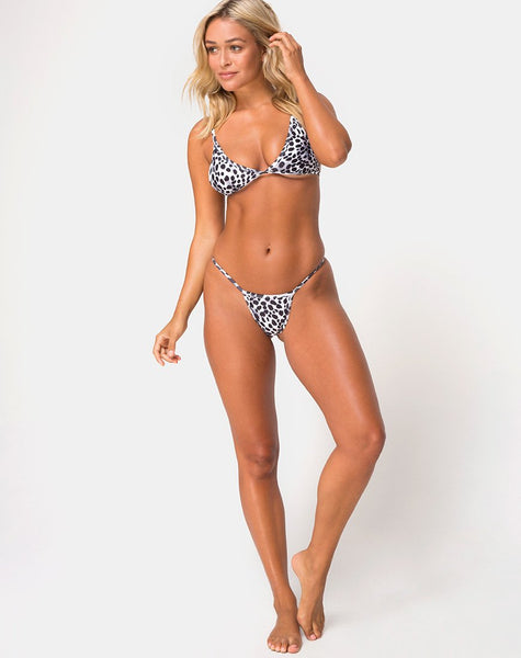 Valter Bikini Top in Dalmatian by Motel