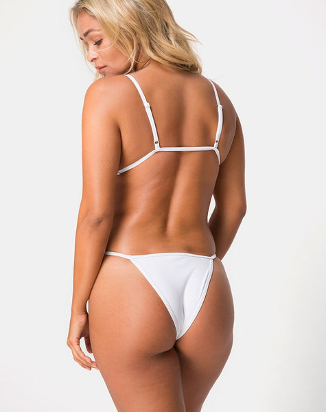 Valter Bikini Bottom in White by Motel