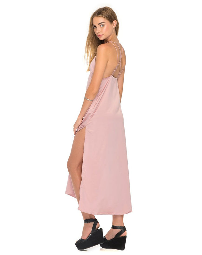 Xochi Maxi Dress in Dusky Pink by Motel