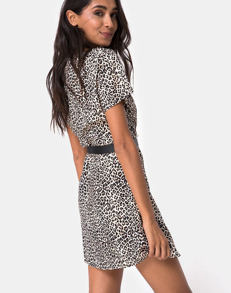 Zavacca Dress in Rar Leopard by Motel