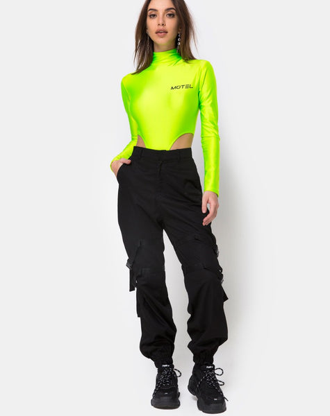 Zepani Bodice in Nylon Green Motel by Motel