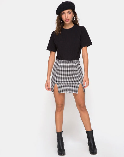 Zida Mini Skirt in Small Dogtooth By Motel