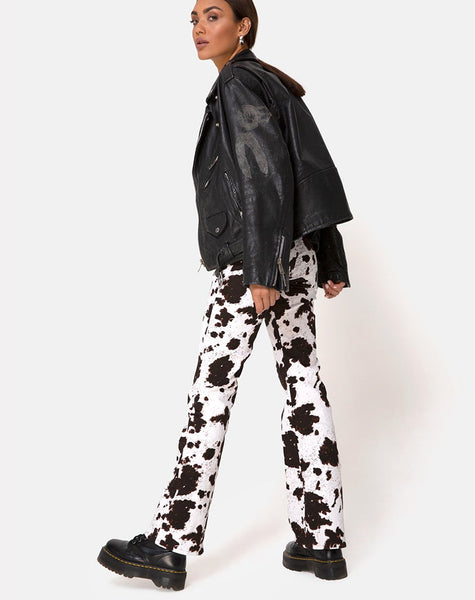 Zoven Trouser in Cow Hide by Motel