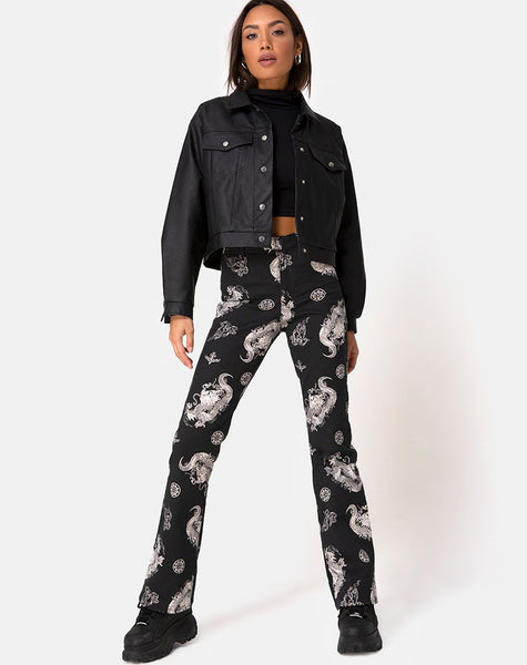 Zoven Trouser in Dragon Black by Motel