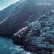 Amalfi Coast aerial photo, European infrared photography, drone photography, aerial city, Austin photographer, Positano Italy blue ocean view