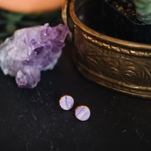 granite - lavender marbled studs