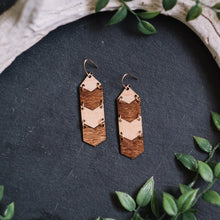 wood chevron earrings - small