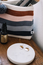 medium brushed gold porcelain earrings