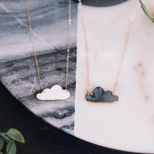 gold accented cloud necklace
