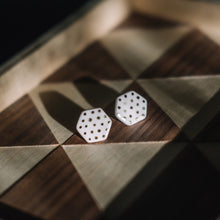 spotted hexagon studs