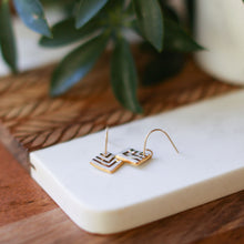 square chevron earrings