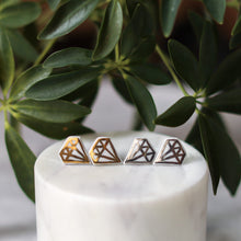 mock diamond studs