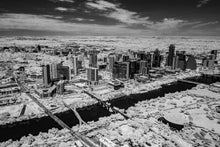Austin aerial photo, infrared photography, drone photography, aerial city, Austin black and white landscape, downtown drone photo