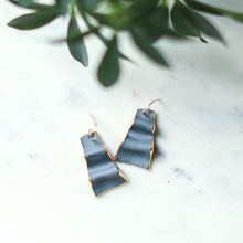grey ribbon earrings