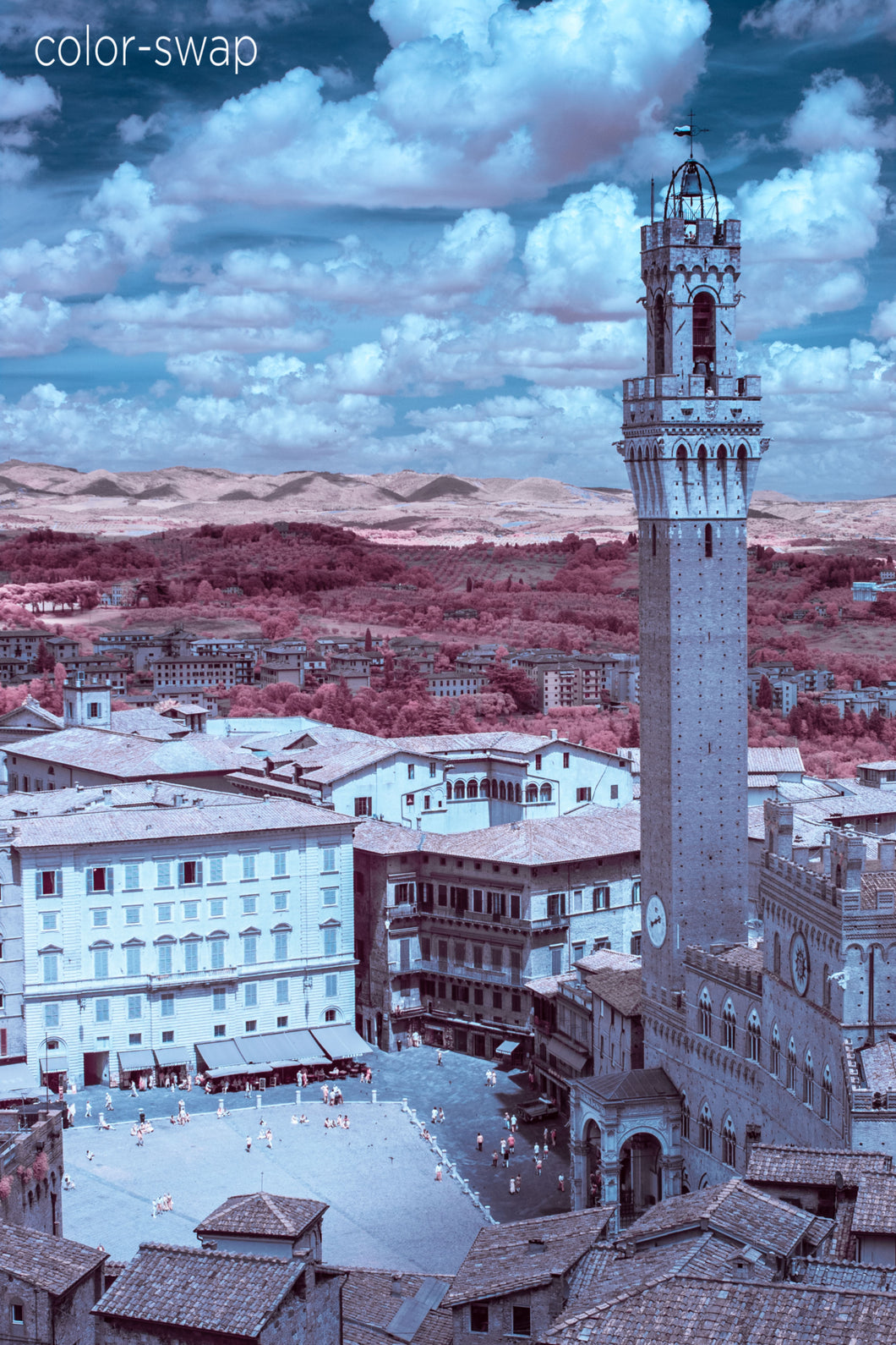 Il Campo in Siena aerial photo, infrared photography, drone photography, Austin photographer
