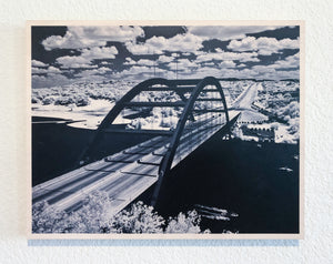 "Pennybacker Bridge on Wood 11"" x 14"""