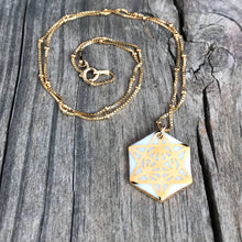 geometric hexagon necklace