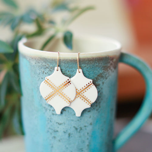 moroccan tile earrings