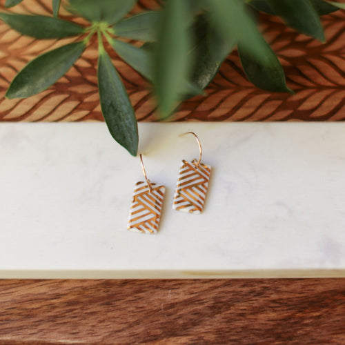 AS IS gold lines rectangle earrings