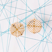 octagon twin earrings
