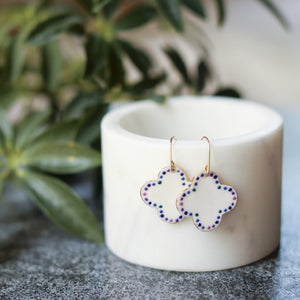 small moroccan tile earrings