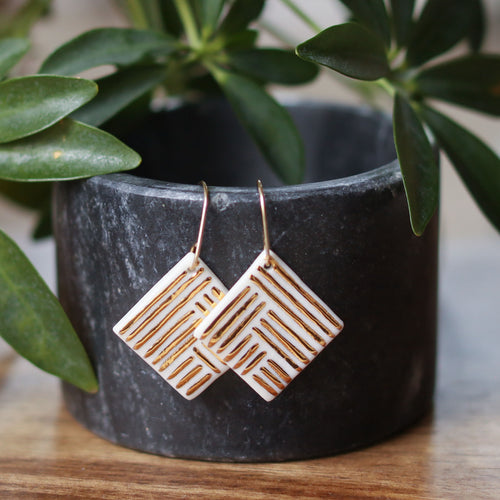 square tile earrings