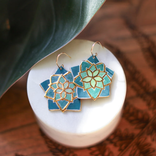 succulent earrings