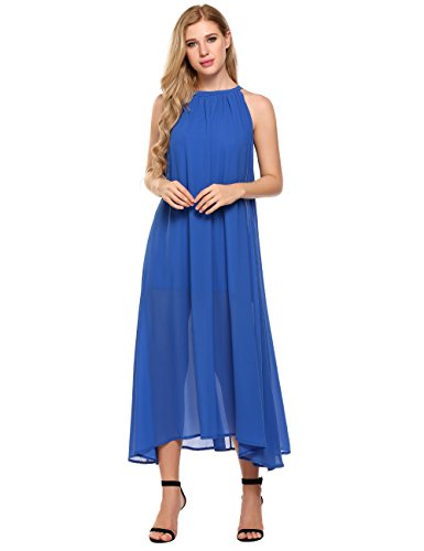 ELESOL Women's Sexy Off The Shoulder Summer Beach Party Maxi Dress