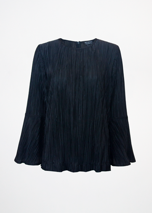Sippa top Pleated Black