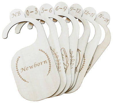 The Original Wood Baby Closet Dividers: Made of Real Genuine Wood (Set of 7)