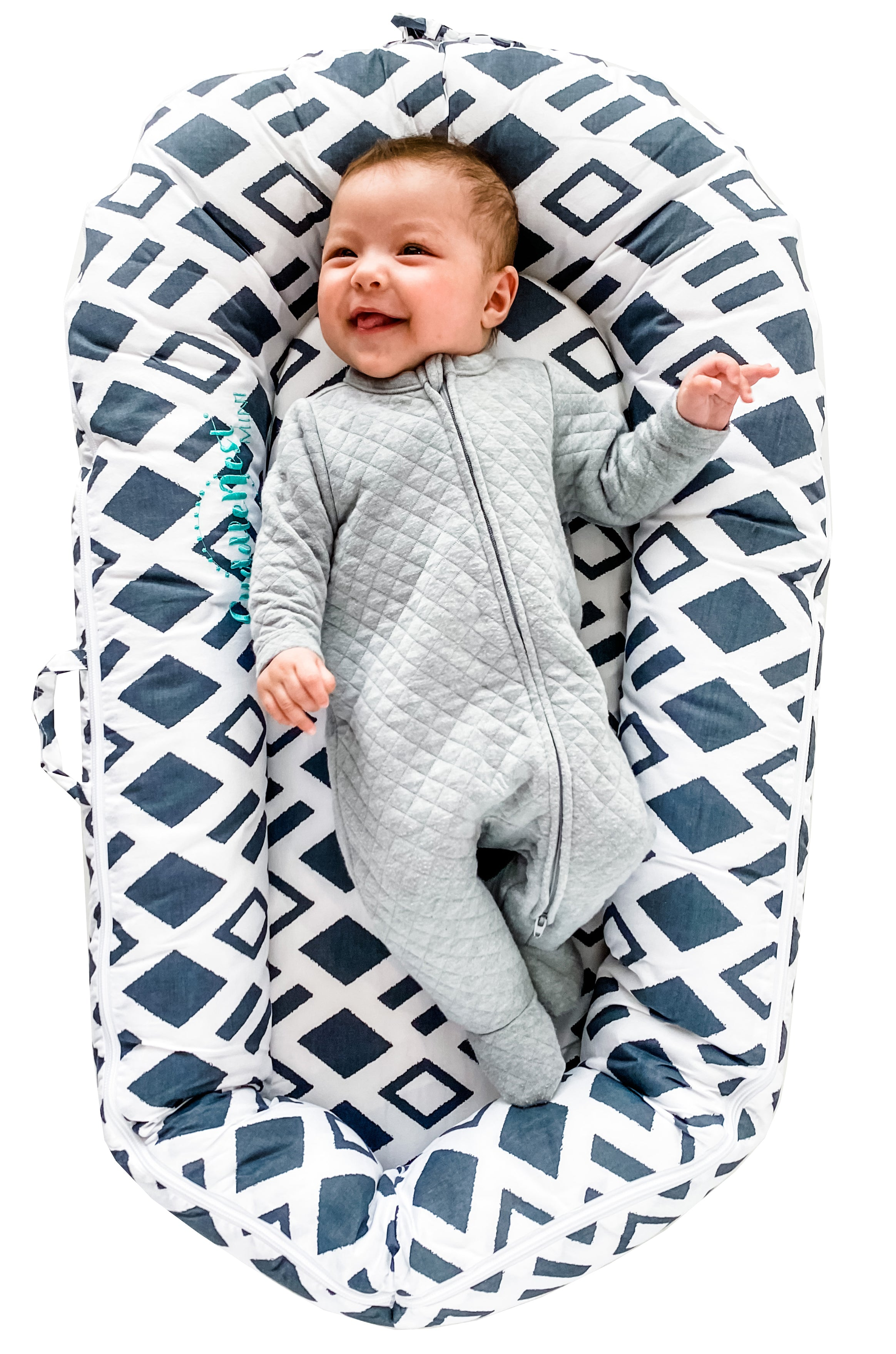 for 0-8 Months Newborn Lounger Infant Lounger Fairy Tale Blue Northwell CuddleNest Mini Baby Lounger