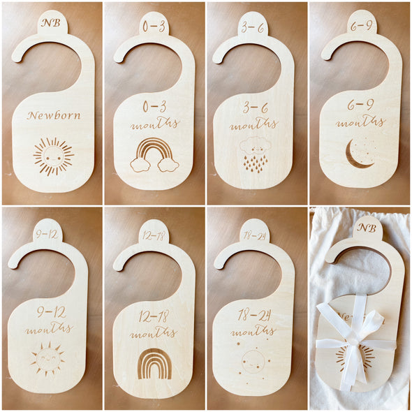The Original Wood Baby Closet Dividers - The LoLueMade Company®
