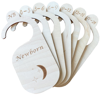 (NEW!) The Original Wood Baby Closet Dividers