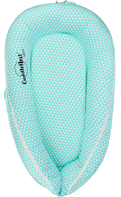 CuddleNest® Mini: Baby Lounger, Newborn Lounger, Baby Nest - for 0-8 Months (Fairy Tale Blue)