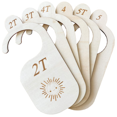 (NEW!) The Original Wood Toddler Closet Dividers
