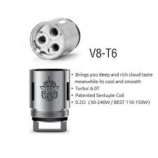 SmokTech V8-T8 Octuple Coil 3 pack - Mystical Vapes