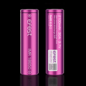 Efest IMR 18650 2100mAh 30A Flat Top Battery (Tear Resistant) - Mystical Vapes