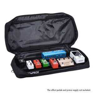 "EX Portable Guitar Effects Pedal Board Pedalboard 20"" Aluminum Alloy with Carrying Bag Case"