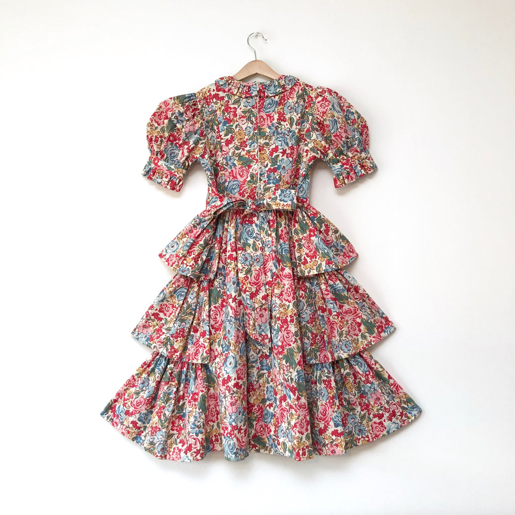 Stunning Vintage Floral Tiered Laura Ashley Dress