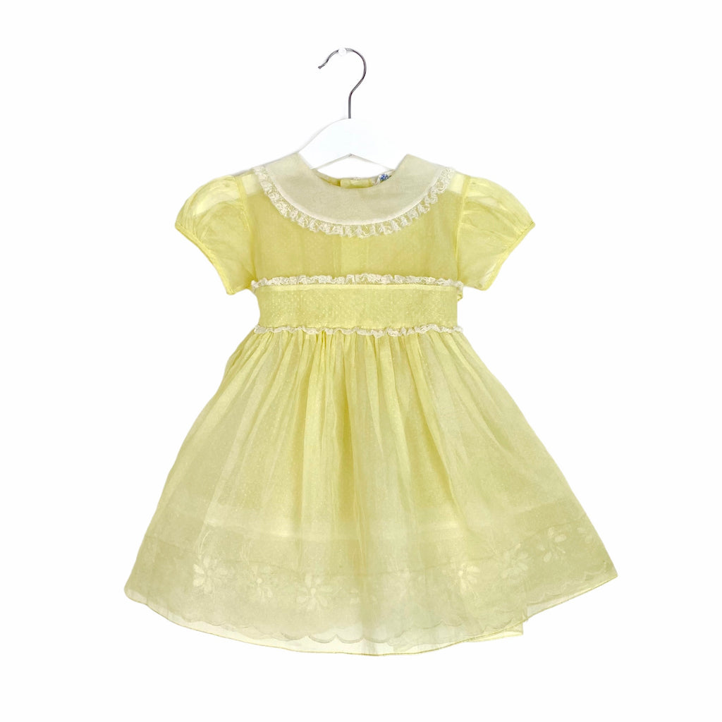 Exquisite Vintage Lemon Sorbet Tulle Dress