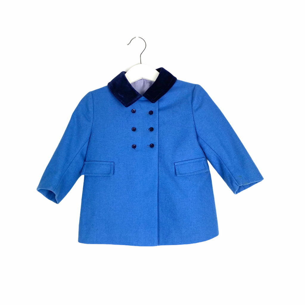 Little Vintage Blue Coat & Hat Set