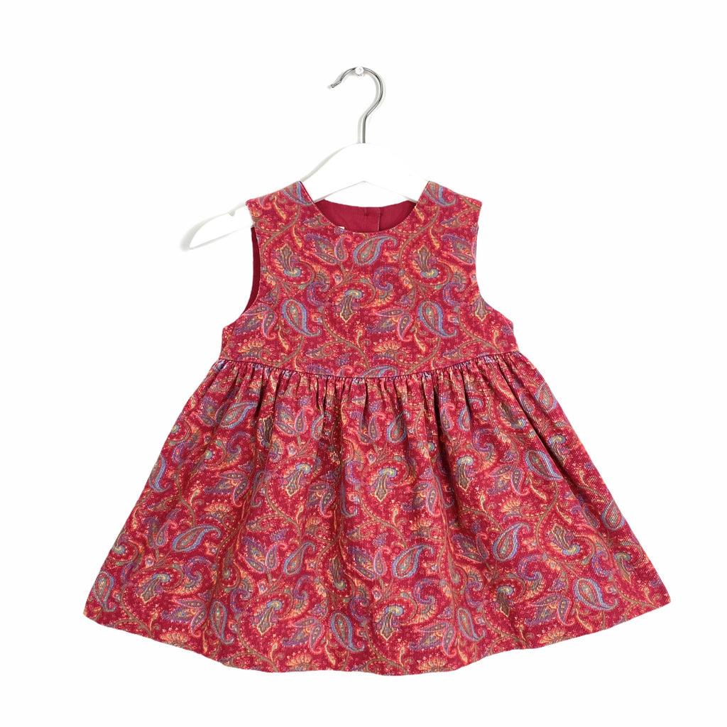 Little Laura Ashley Vintage Paisley Needlecord Dress