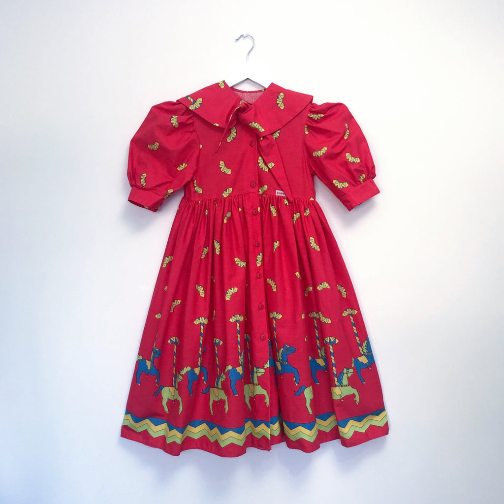 Vintage Red Carousel Dress