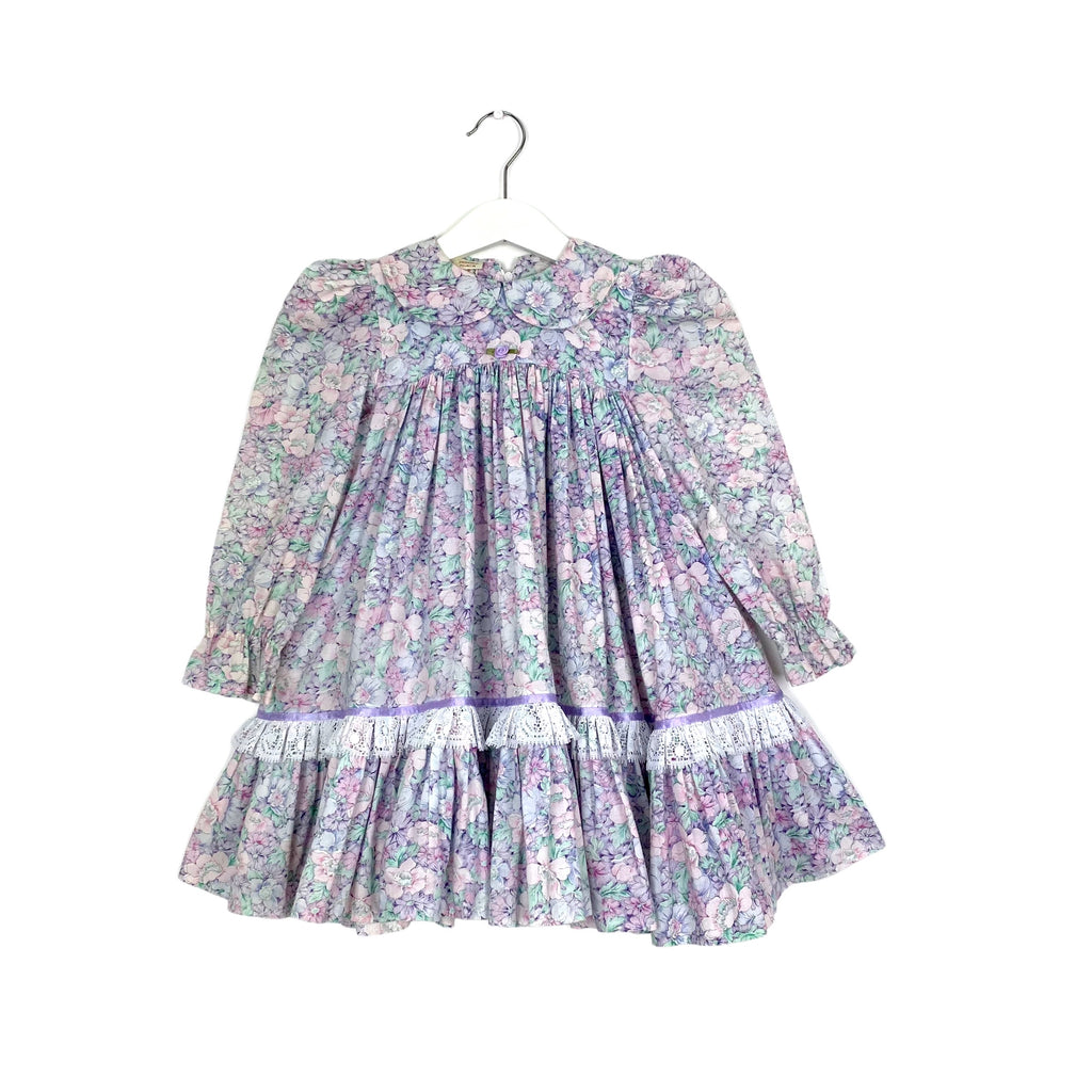 Vintage Full Skirt Flower Dress