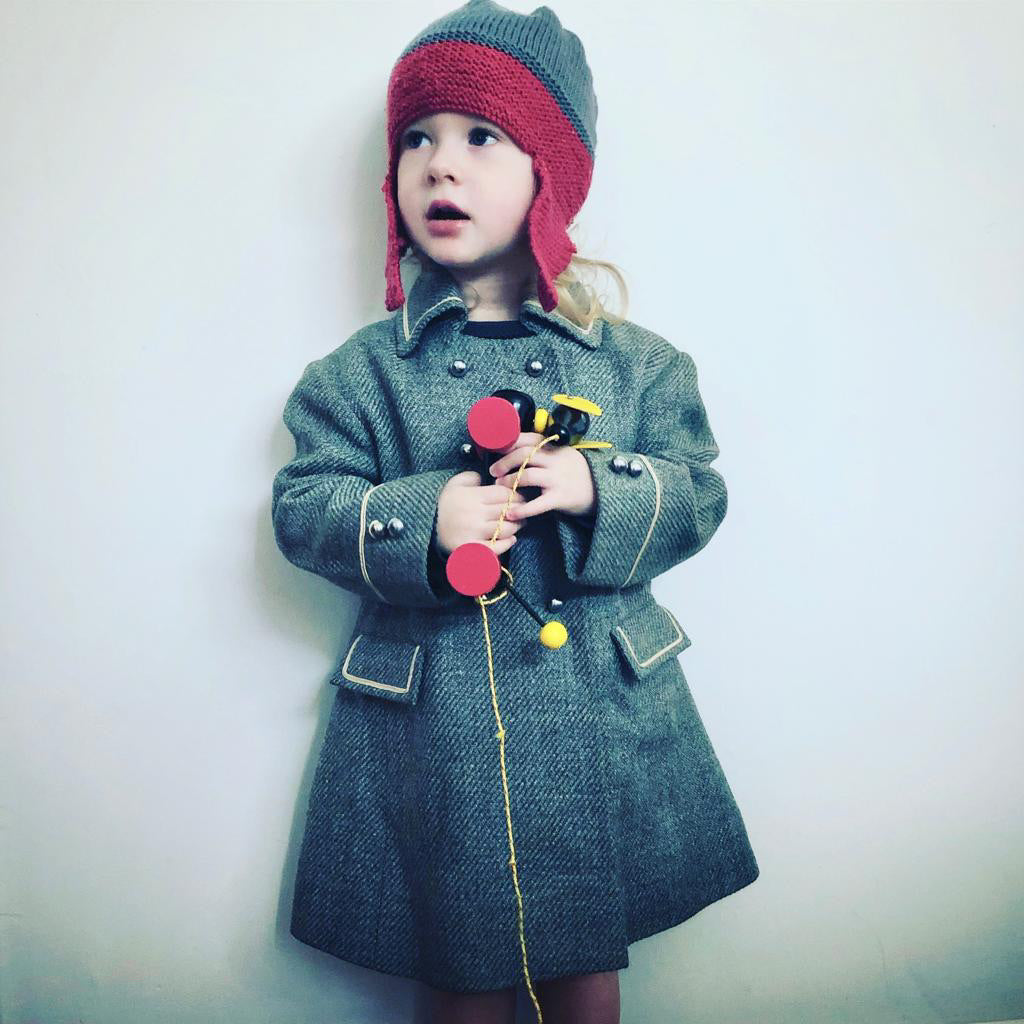 Vintage Rothschild Military Style Grey Coat