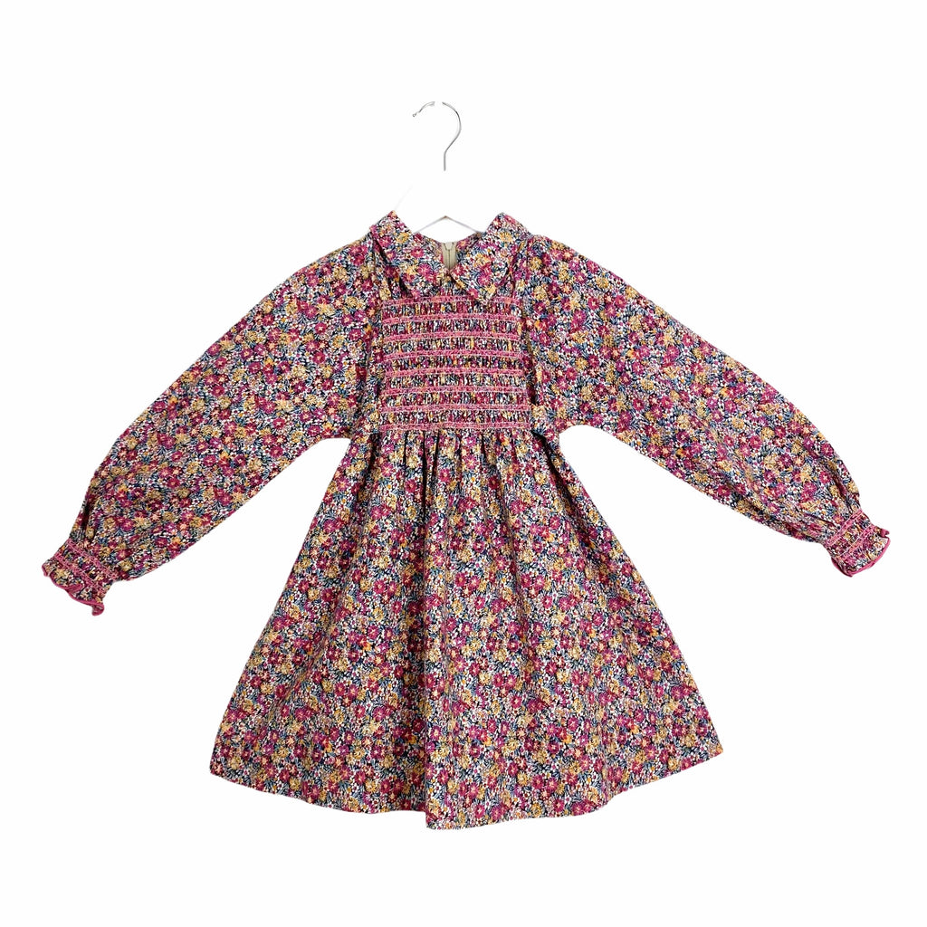Exquisite Smock Front Vintage Dress