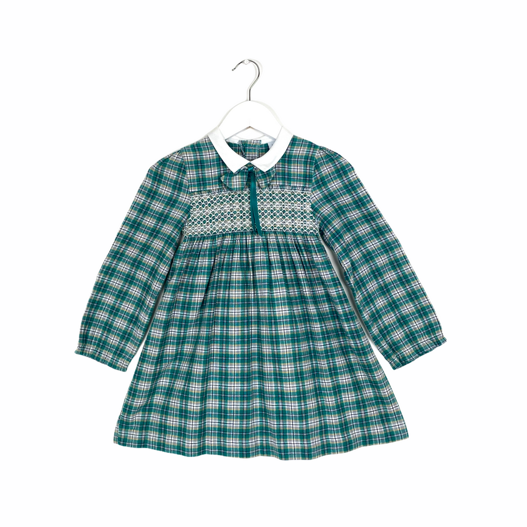 Vintage Green Plaid Dress