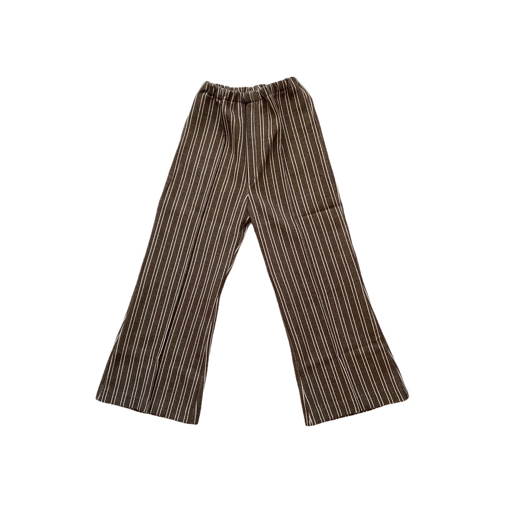Vintage Brown Railroad Stripe Trousers