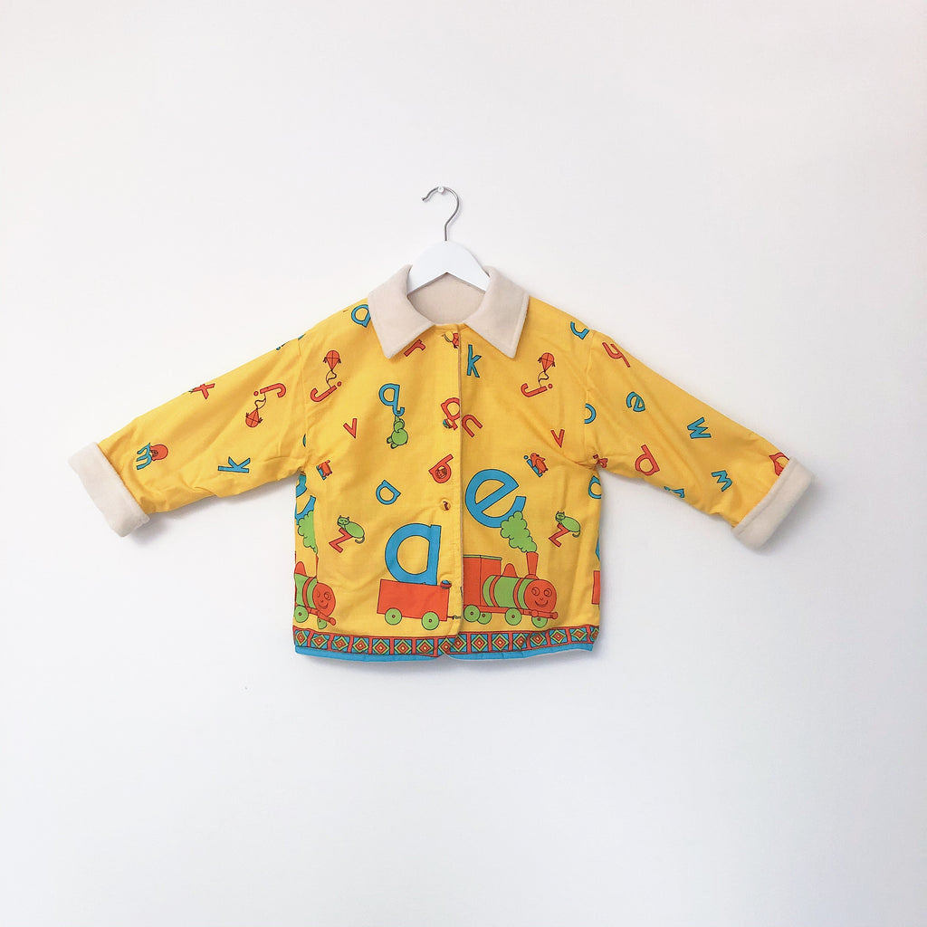 Primary Colour Alphabetti Vintage Jacket